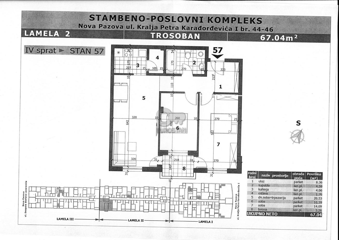 Stan NOVA PAZOVA 51500 EUR