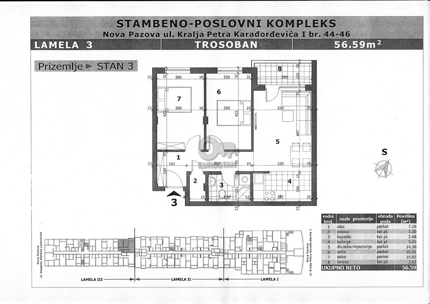 Stan NOVA PAZOVA 43000 EUR