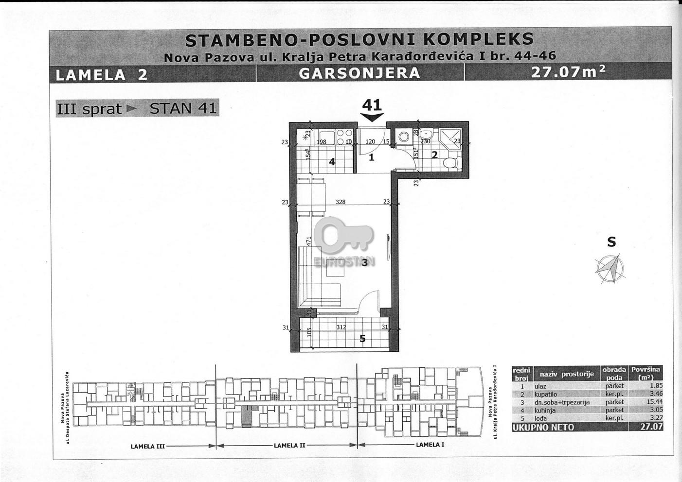 Stan NOVA PAZOVA 21500 EUR